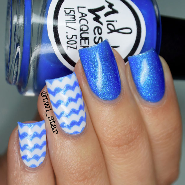 MidWest Lacquer End NF Blue Thermal Color Changing Polish tutorial