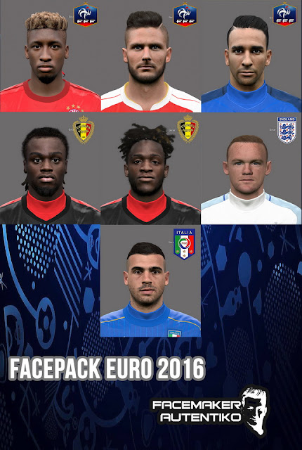 PES 2016 Facepack Euro 2016 by Autentiko