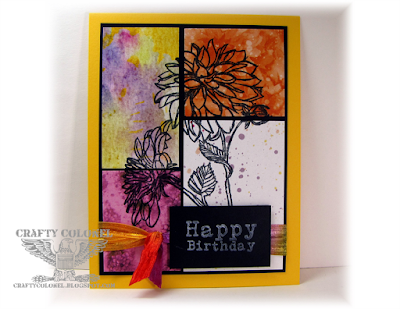 Crafty Colonel Donna Nuce using Club Scrap Dahlia, A2 Birthday Card