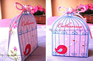 Bird in a Cage Free Printable Box.