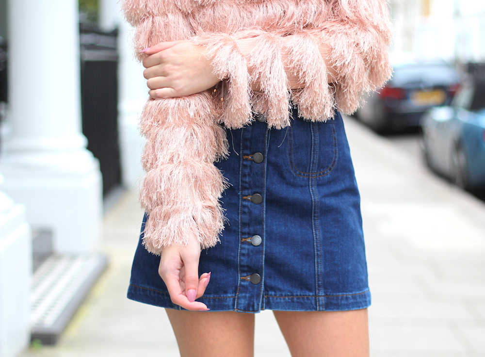 topshop denim mini skirt peexo blogger
