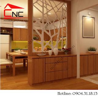 vach ngan phong bep%2B%25289%2529 Nên chọn vách ngăn phòng khách và bếp bằng gỗ hay nhựa?