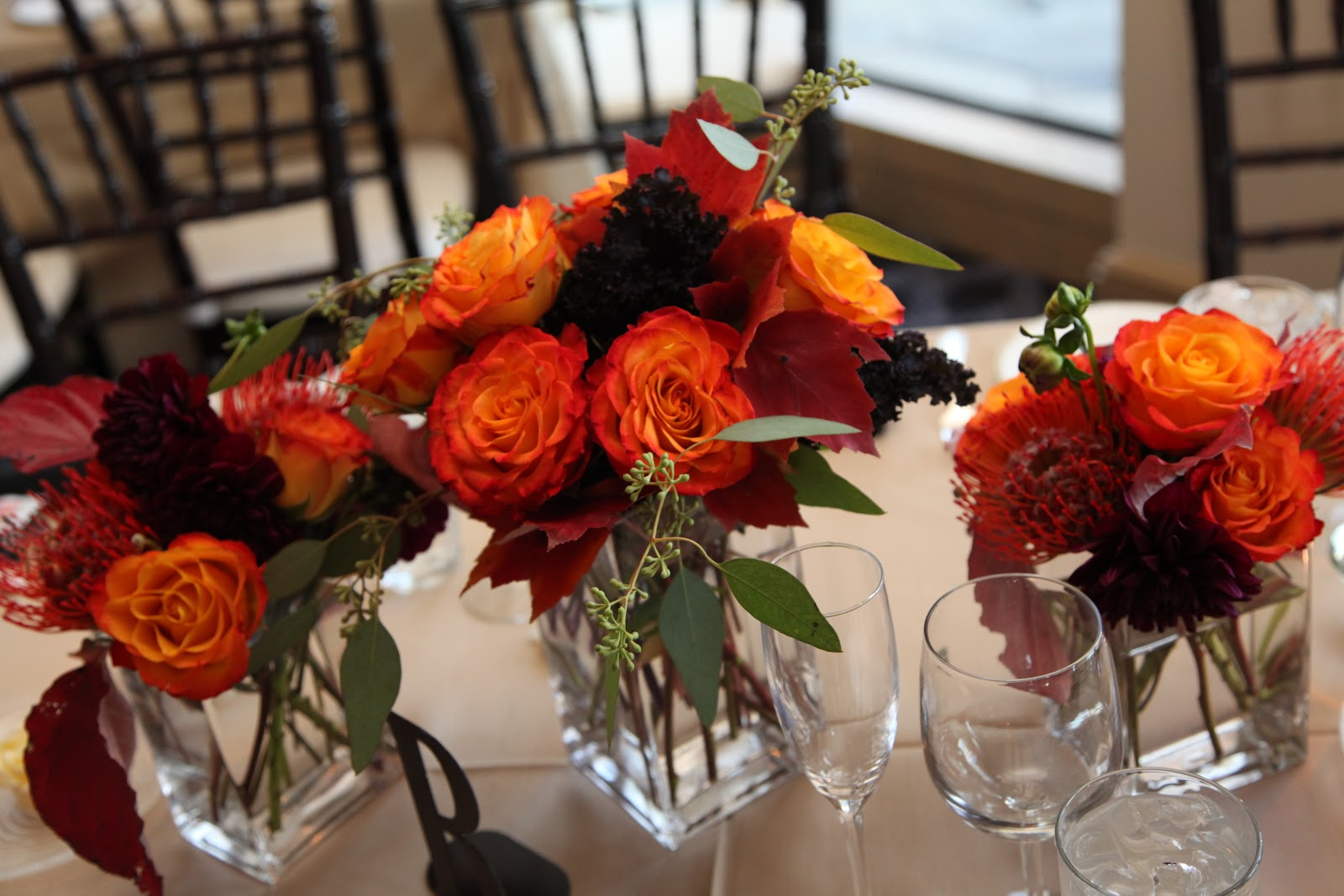 Unique Fall Wedding Centerpieces: Fall Wedding Flowers At The Peachtree Club