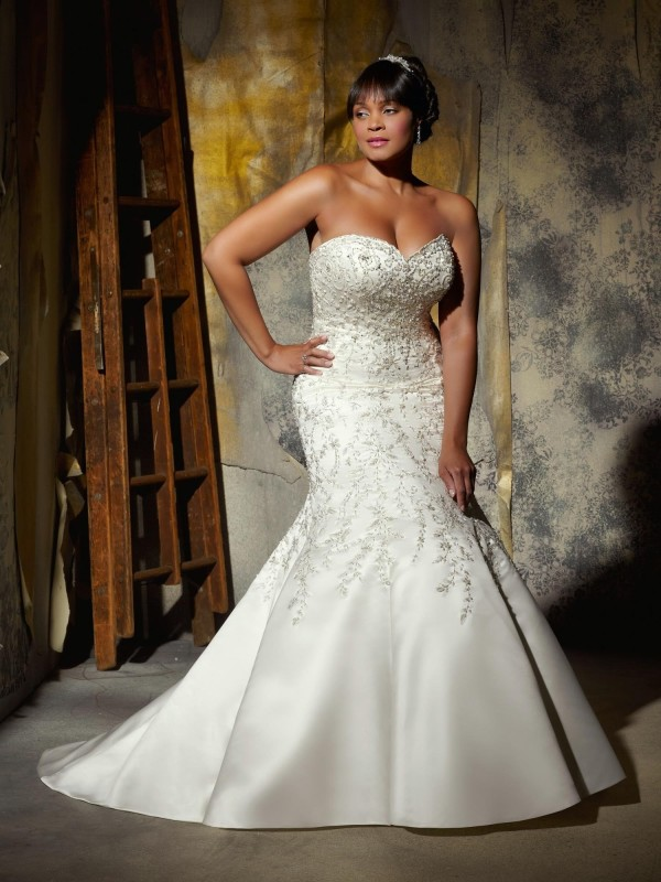 JcPenney Inexpensive Plus Size Wedding Gowns