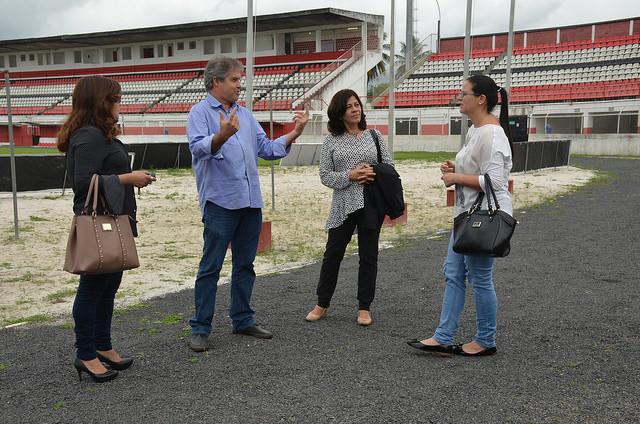Nova vistoria: Secretário de Infraestrutura se reúne com a diretoria da FATEC em visita técnica ao Carneirão