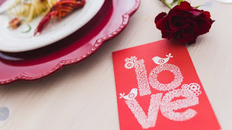 Wallpaper: Love Card, Rose and a Romantic Dinner