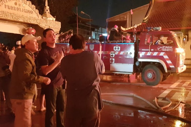 Kebakaran Kelenteng di Probolinggo Diduga Karena Lilin
