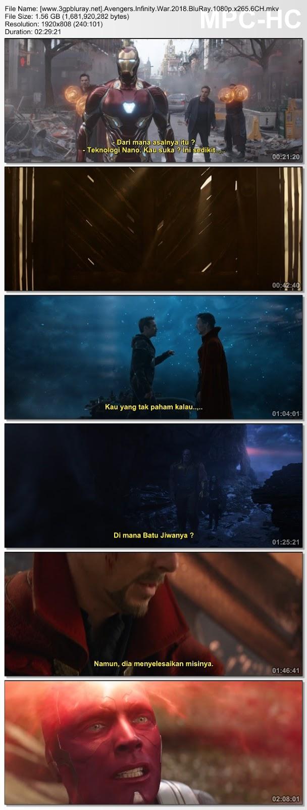 Screenshots Download Film Gratis Hardsub Indo Avengers: Infinity War (2018) BluRay 480p MP4 Subtitle Bahasa Indonesia 3GP