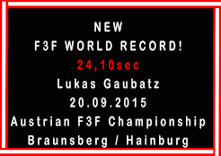 A new F3F world record of 24.10s by Lucas Gaubattz of Austria