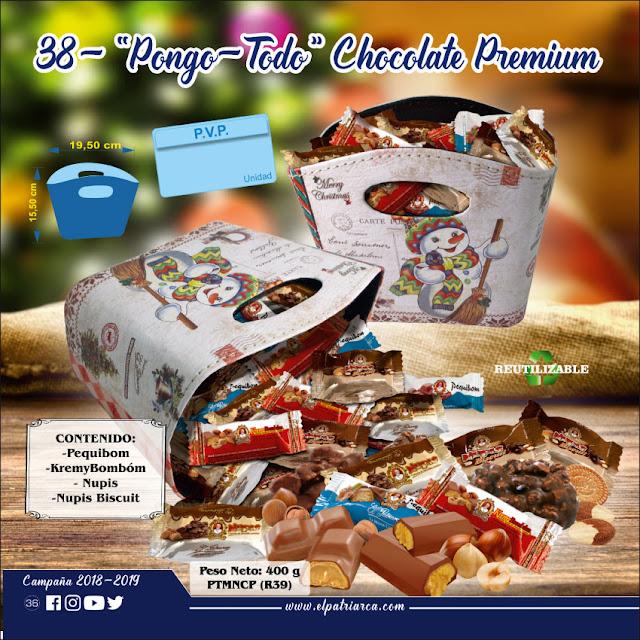 Pongo-Todo Surtido Chocolate Premium El Patriarca 400 g - Comercial H Martin sa