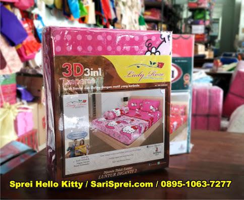 sprei hello kitty lady rose