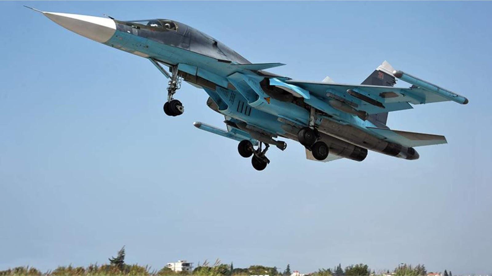 Pesawat tempur Rusia menunjukkan permusuhan terang-terangan