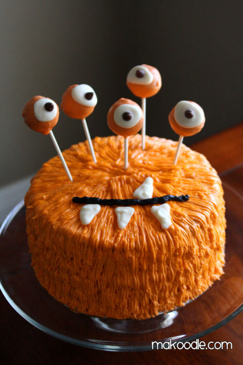 Halloween Monster Cake for Halloween, Halloween Cake designs,  Recipes, ideas about Halloween cakes