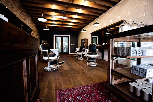 METRONOME: Baxter Finley barber & shop - Modern Barber Shop Interior