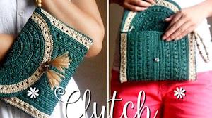 Clutch / Bolso de mano Crochet / paso a paso
