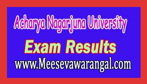 Acharya Nagarjuna University Exam Results