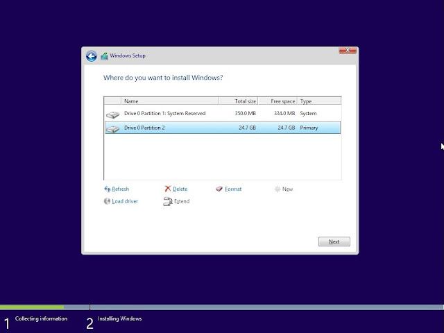 Cara menginstal windows 10 pada laptop / komputer (memformat partisi)