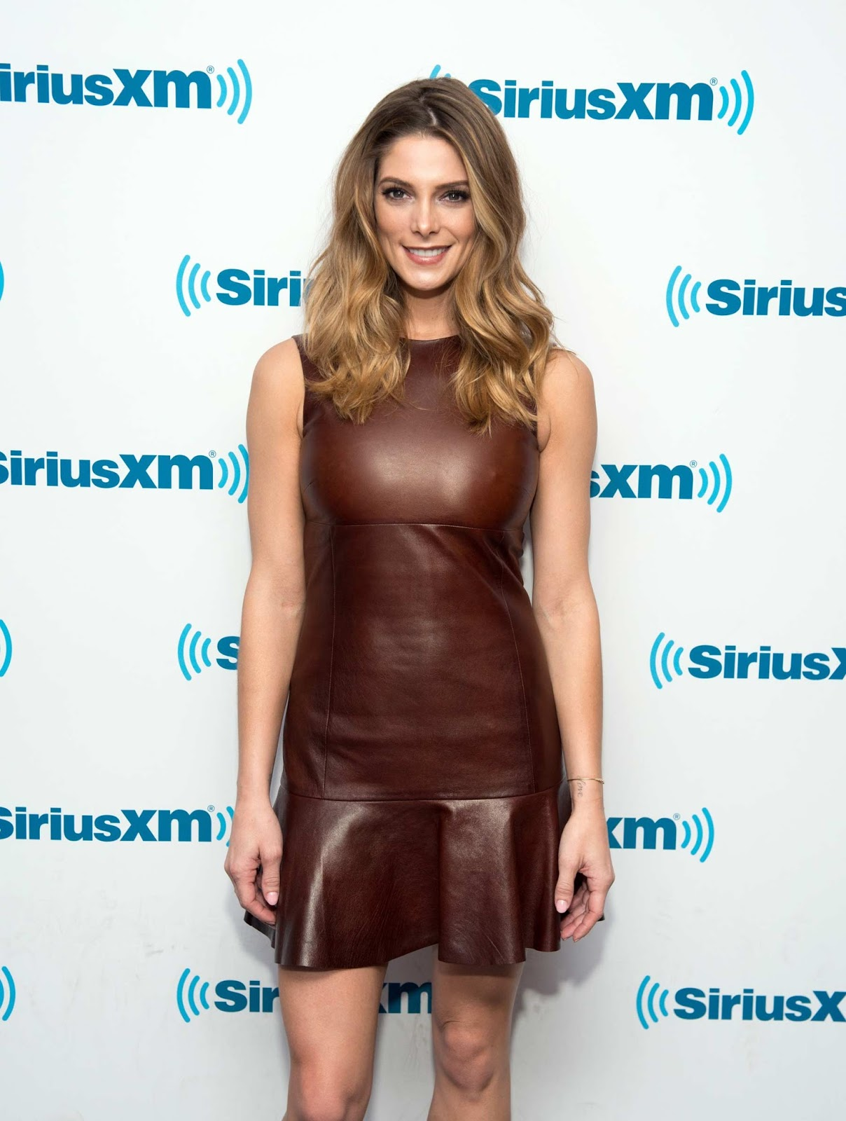 ashley greene wears a brown leather dress photo ashley greene 2016