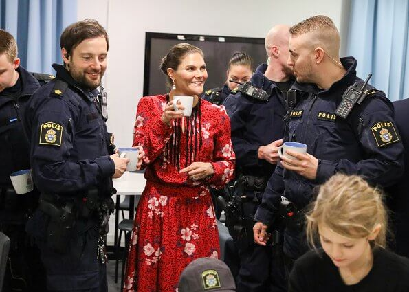 Crown Princess Victoria wore Zadig Voltaire dress, Cravingfor Jewellery earrings, Unreal fur coat. Princess Estelle and Prince Oscar