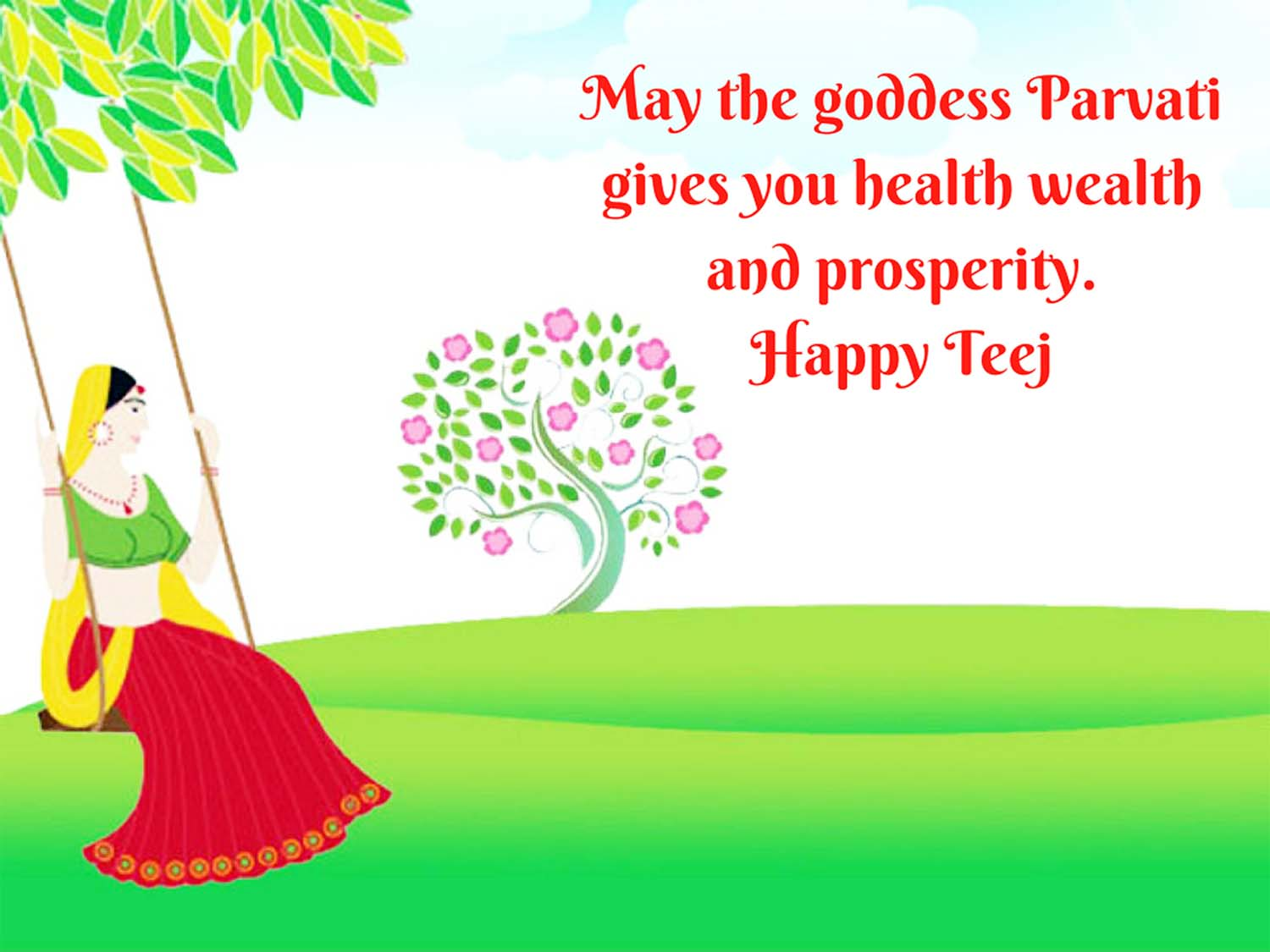 happy teej wishes Hindi