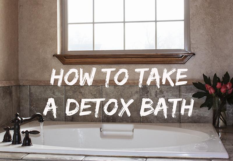 detox bath, diy detox bath, epsom salt