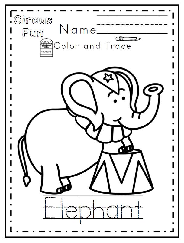 Circus Fun Printable (No Prep) ~ Preschool Printables