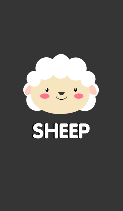 Simple Cute Face White Sheep Theme