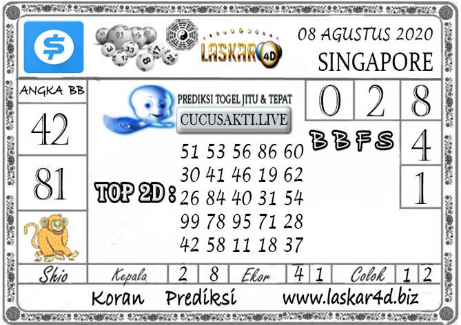 Prediksi Togel SINGAPORE LASKAR4D 08 AGUSTUS 2020