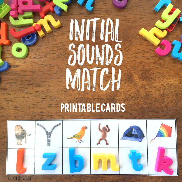 Initial Sounds Match Cards | you clever monkey