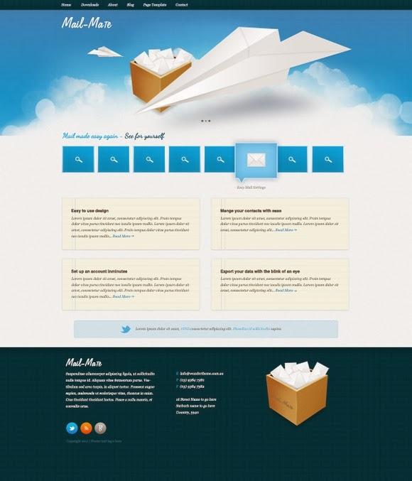 Mail Mate – A Free Website PSD Design