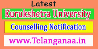 Kurukshetra University MBA-SFS Course 2016-17 Counselling Notification