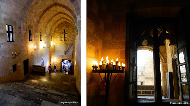 Interior do Palácio dos Cruzados - Rodes - Grécia