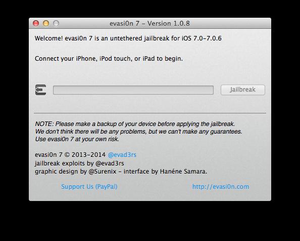evasi0n7 - Version 1.0.8
