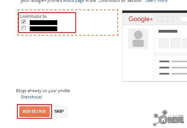 Add Blogs to Google Plus Profile - Mengatasi Using Blogger as Unknown di dashboard blogger - sharehovel
