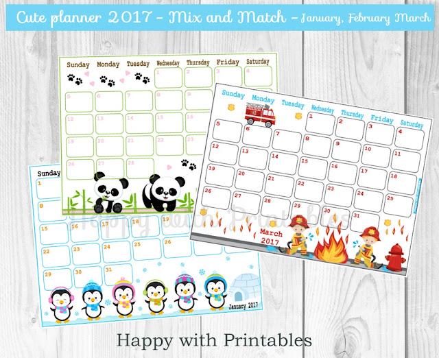 2017 planner for kids, 2017 printable planner, planner 2017, calender 2017 printable,