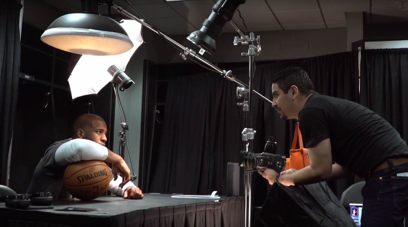 NYTIMES BTS: Portrait of Chris Paul for The New York Times by Alexis Cuarezma