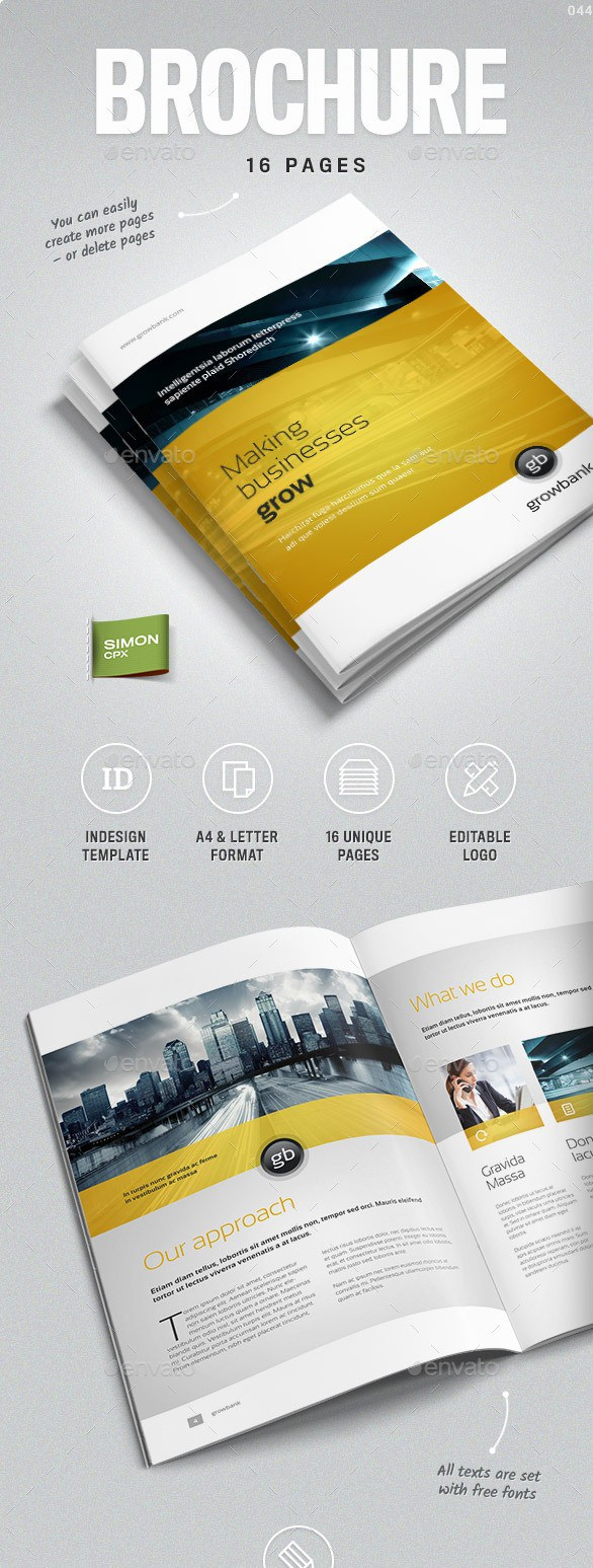 100 free premium brochure templates photoshop psd indesign ai business brochure vol 8 flashek Image collections