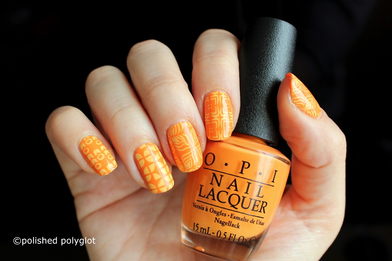 Nail Art │ Yellow and Orange Retro patterns [26GNAI] / Polished ...
