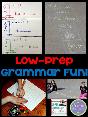 Grammar CAN be fun! Check out this blog post featuring five fun grammar games and activities! Freebies are included!