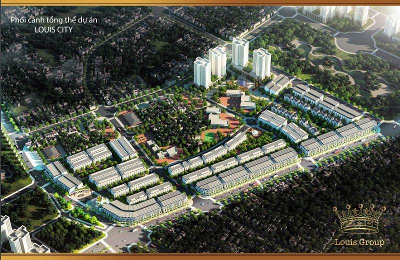 Dự án Louis City giáp đường 70.