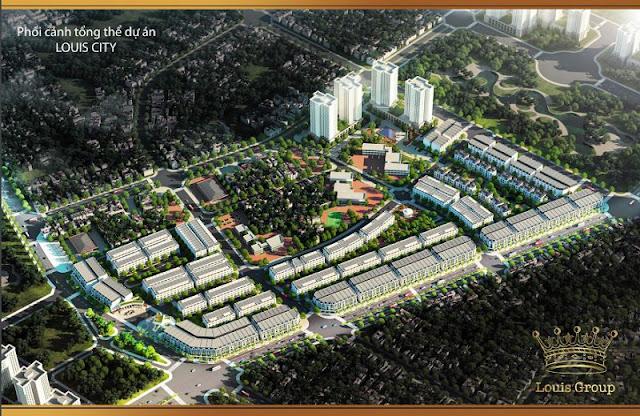 Không gian sống đẳng cấp tại dự án Louis City.