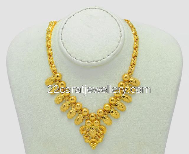 Yellow Gold Plain Set By Malabar Gold Jewellery Designs