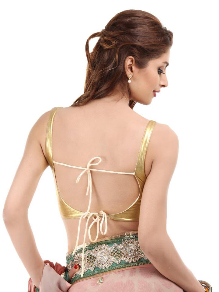 Remarkable, Backless saree blouses designs for women