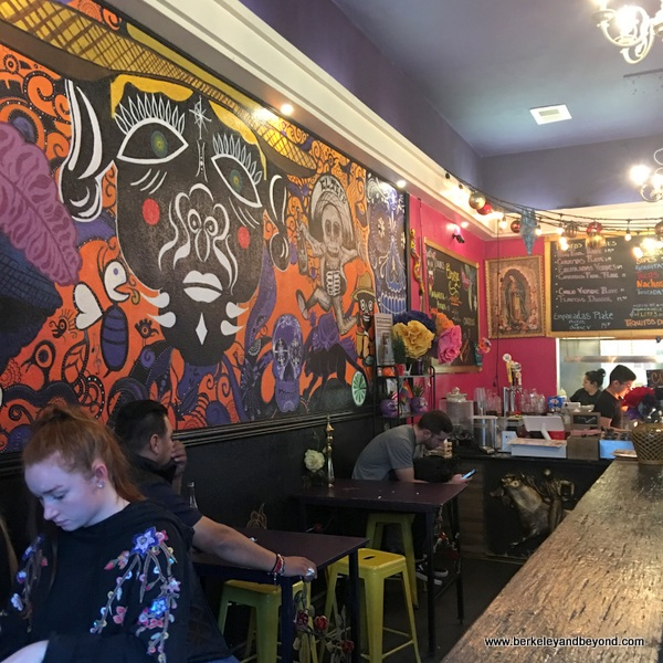 interior of Tacorgasmico in San Francisco, California
