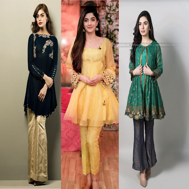 b338fa847f38c Today i am talk about Short Frock Designs in Pakistan 2018_2019. Young  ladies characteristically love to look flawless when they have short gown  plans ...