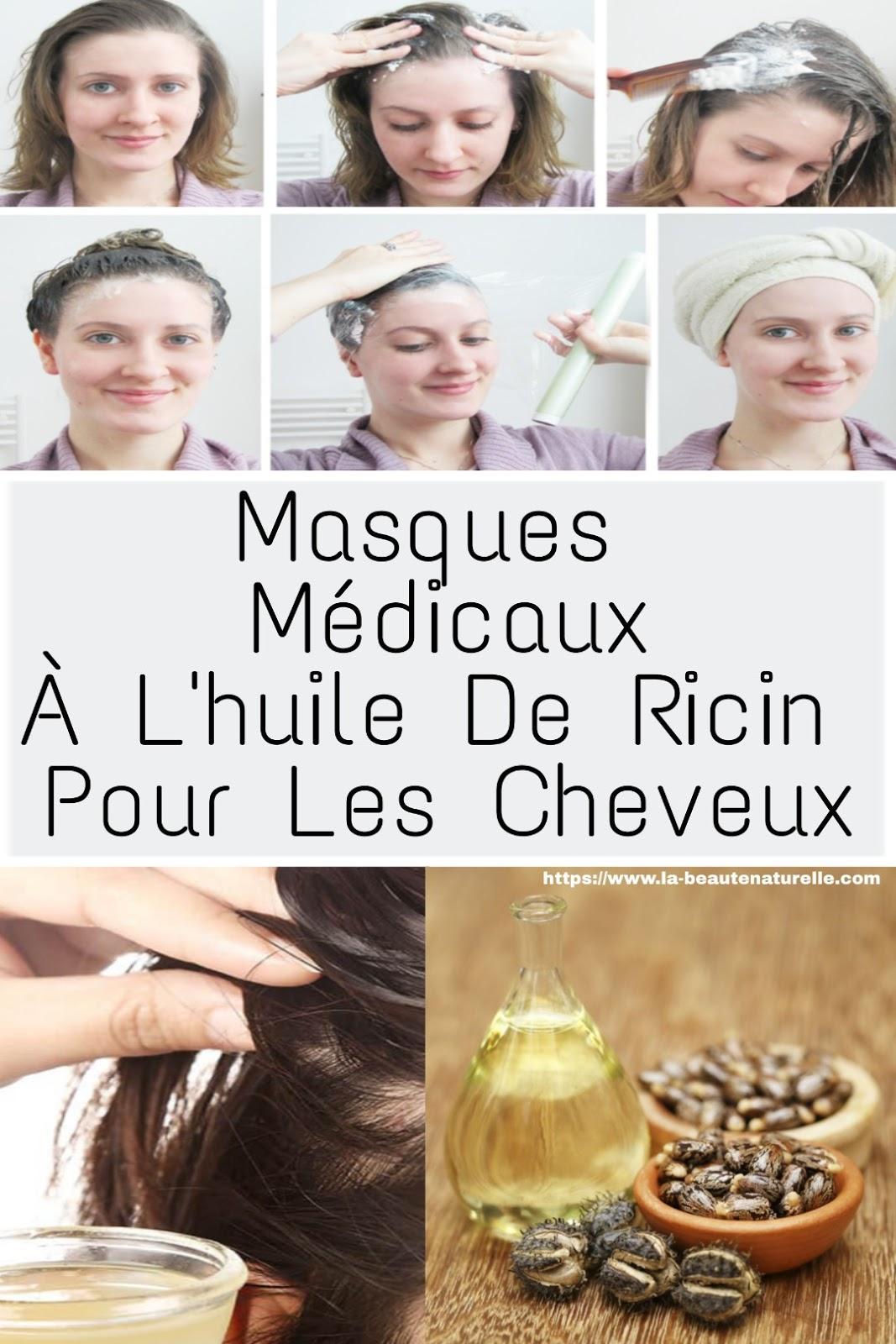 Masques Médicaux À L'huile De Ricin Pour Les Cheveux