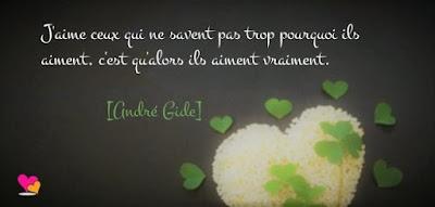 Belle citation d'André Gide sur le vrai amour.