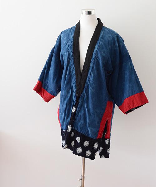 野良着 FUNS 藍染 絣 ジャパンヴィンテージ クレイジーパターン 30年代 Noragi Jacket Japanese Vintage Aizome Fabric Kasuri Crazy 30s