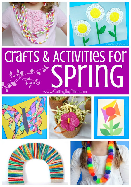 Favorite Spring Crafts And Activities For Kids. Fun collection of fine motor activities, process art, and more- featuring flowers, rainbows, butterflies, bugs, weather, and more!  Crafts and activities for toddlers, preschoolers, kindergarten, and elementary!  Also includes activities for spring holidays- St. Patrick's Day, Easter, and Earth Day.