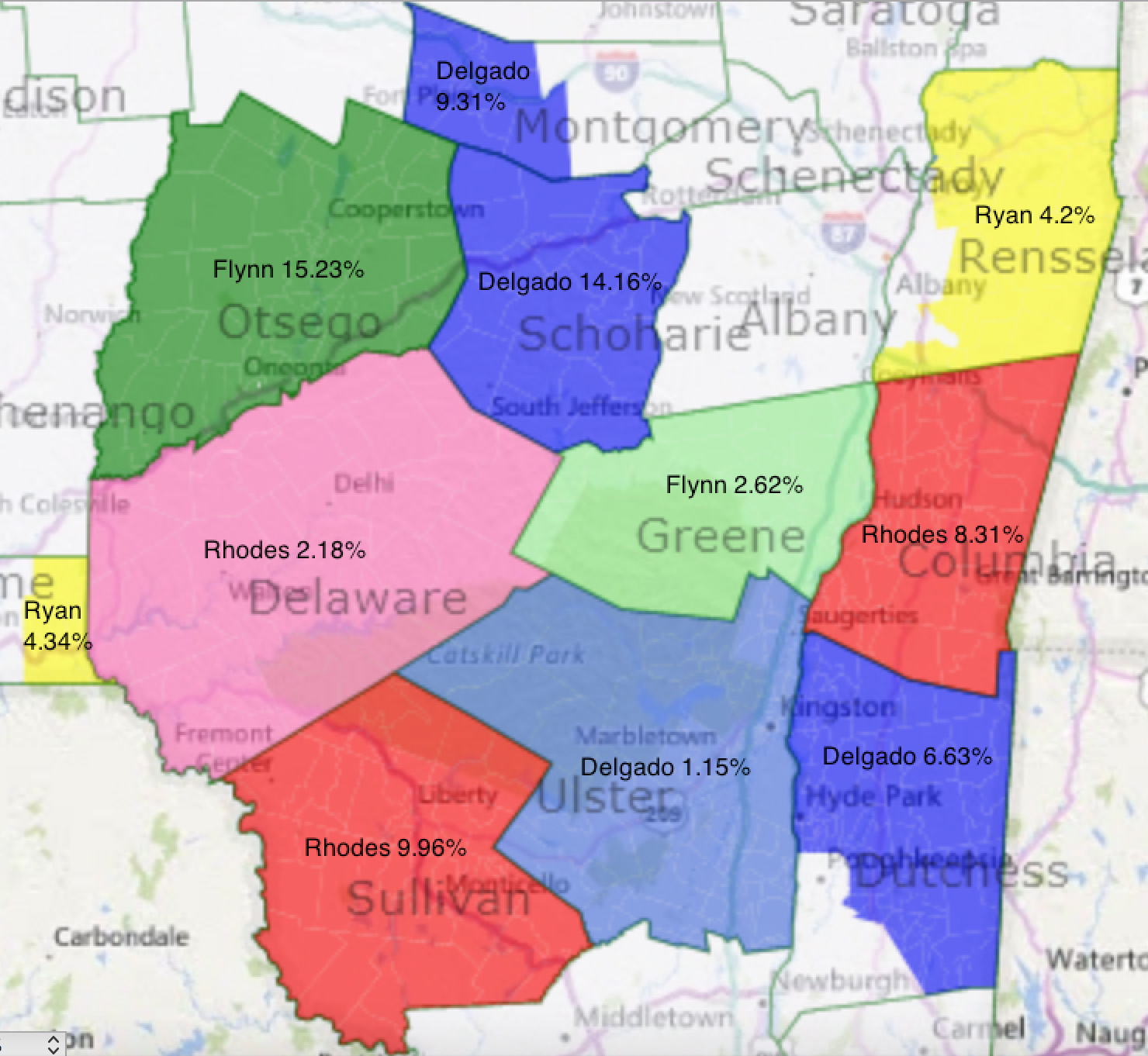 Map Of New York 19th Congressional District.The Gossips Of Rivertown Mapping Yesterday S Results
